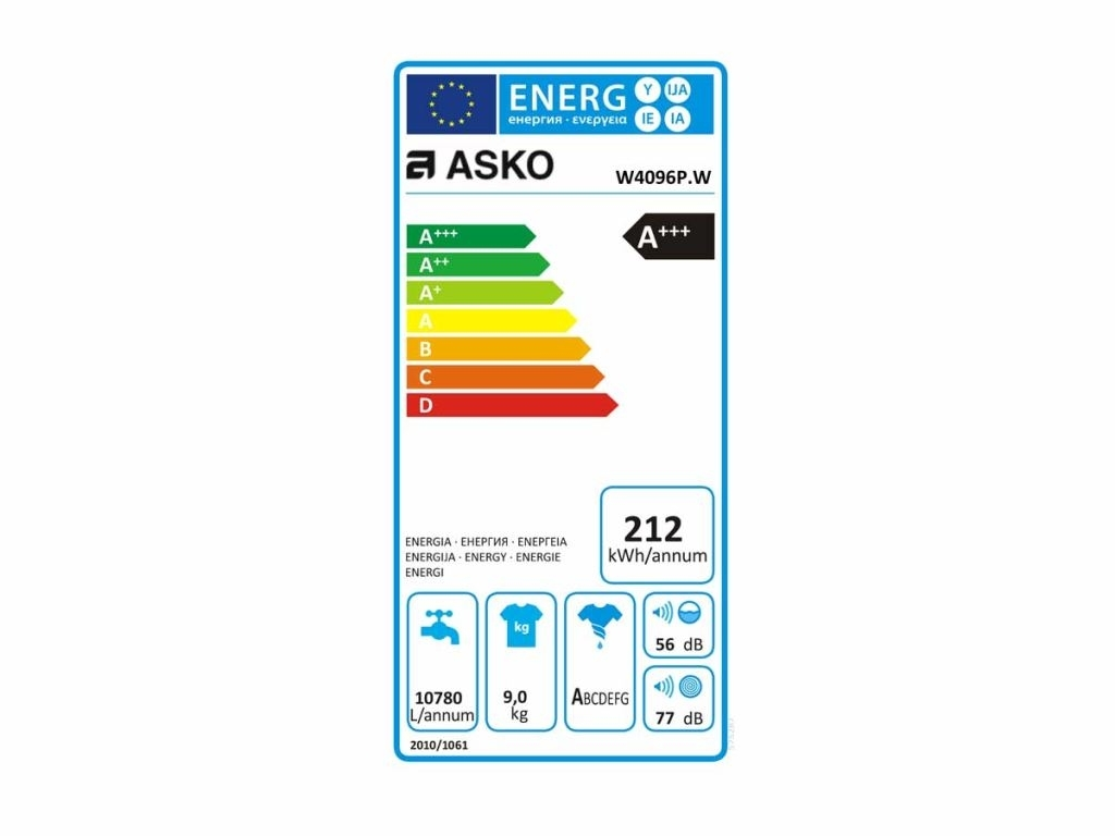 Asko W4096P.W Wasmachine