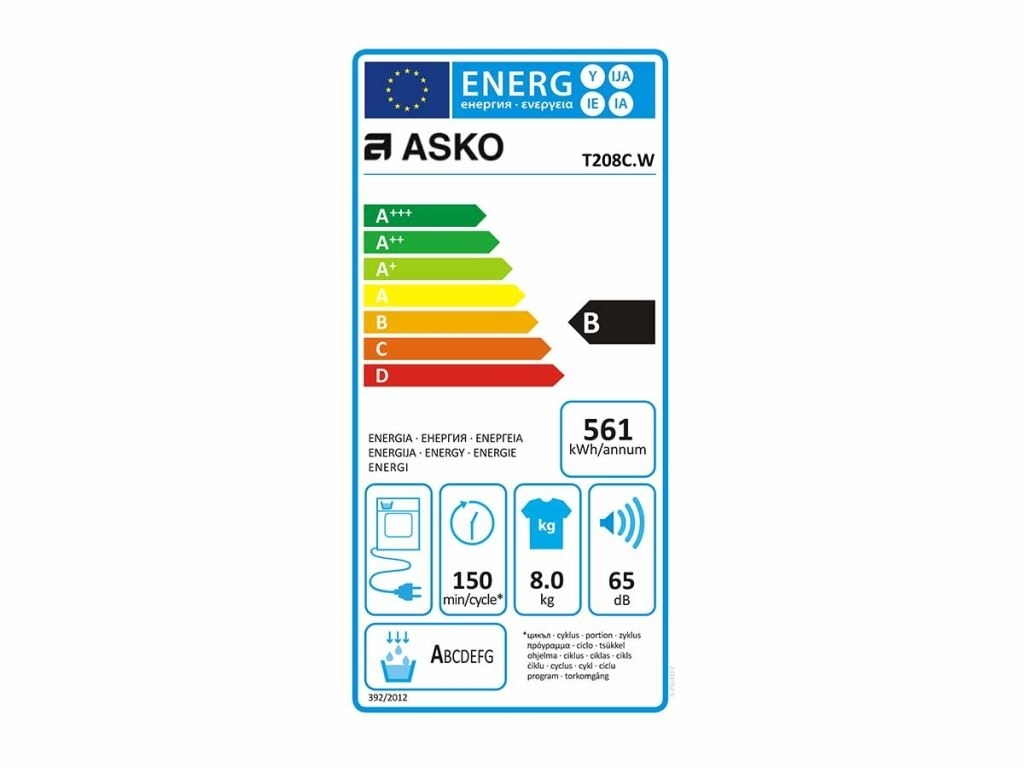 Asko T208C.W Wasdroger