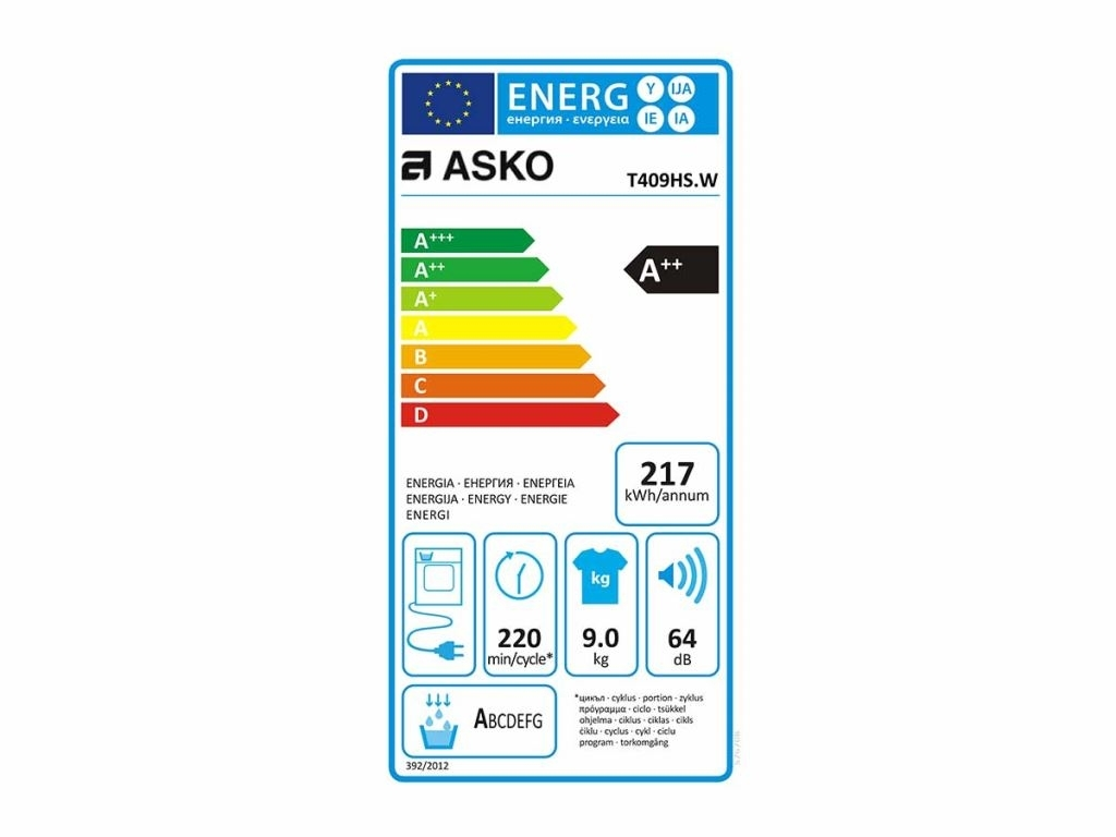Asko T409HS.W Wasdroger