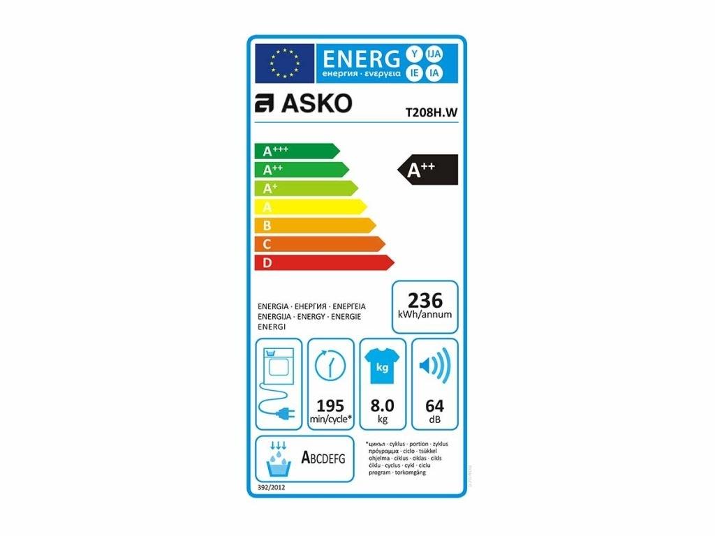 Asko T208H.W Wasdroger