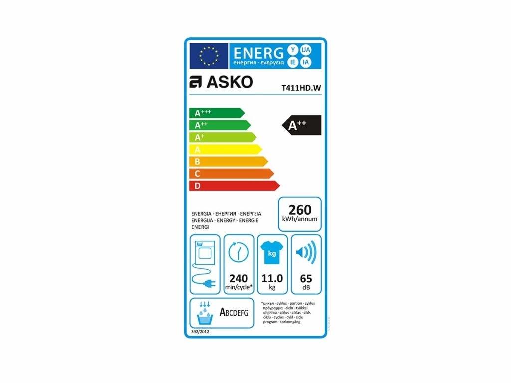 Asko T411HD.W Wasdroger