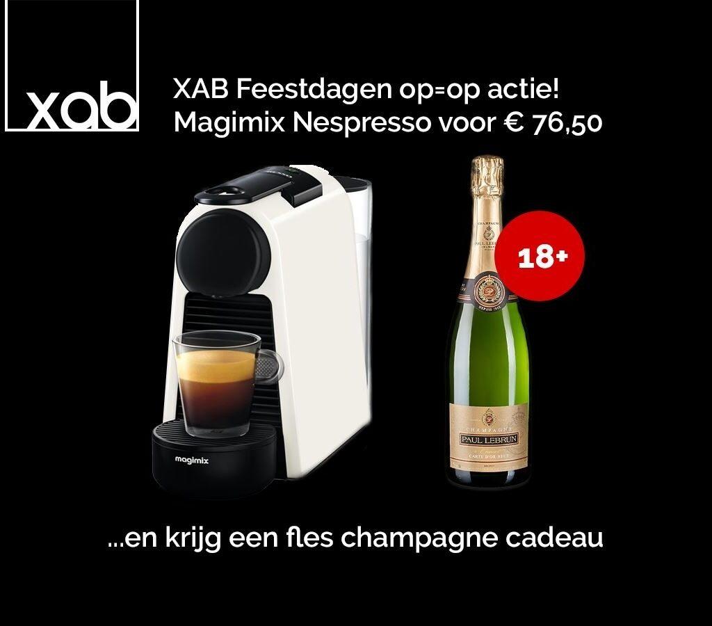 Magimix Essenza Espresso Machine wit + gratis Champagne